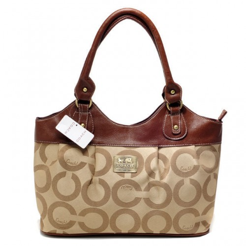 Coach In Monogram Medium Khaki Satchels BXH