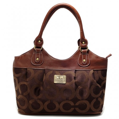Coach In Monogram Medium Coffee Satchels BXI