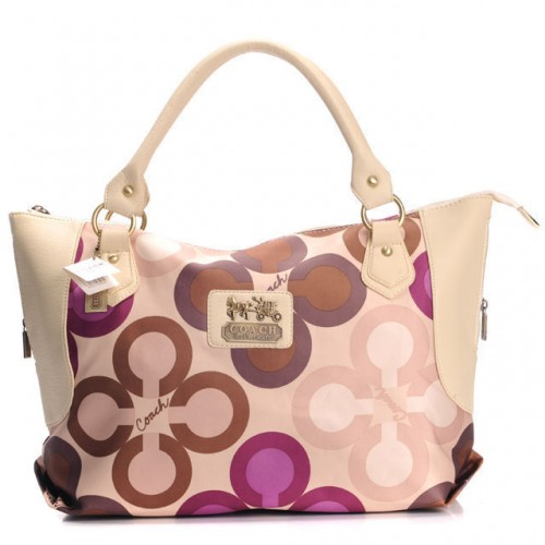 Coach Fashion Monogram Large Ivory Totes BXK