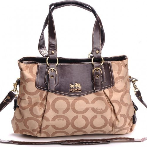 Coach Madeline East West Large Khaki Satchels BXM