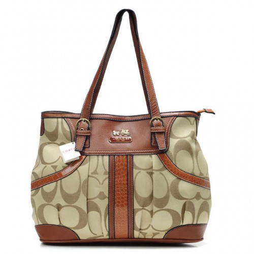 Coach In Monogram Medium Brown Totes BXT
