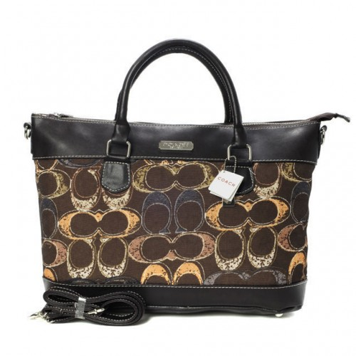 Coach Logo In Monogram Small Coffee Totes BYG
