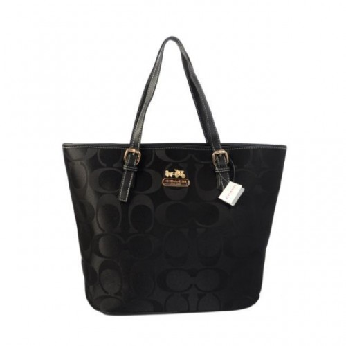 Coach Legacy In Monogram Medium Black Totes BYV
