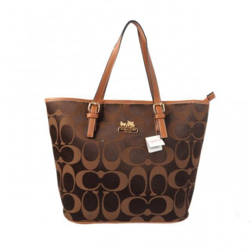Coach Legacy In Monogram Medium Coffee Totes BYW