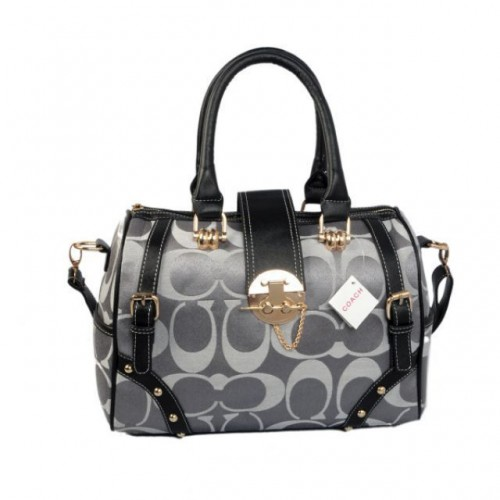 Coach Lock In Monogram Medium Grey Luggage Bags BYY