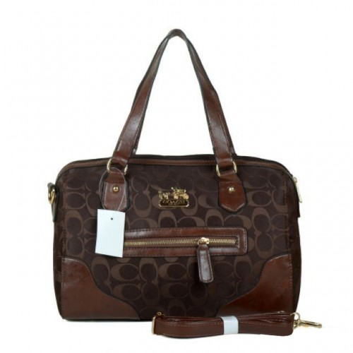 Coach Legacy In Monogram Medium Coffee Totes BZC