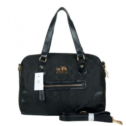 Coach Legacy In Monogram Medium Black Totes BZD