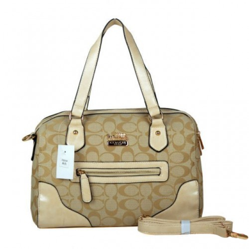 Coach Legacy In Monogram Medium Khaki Totes BZE
