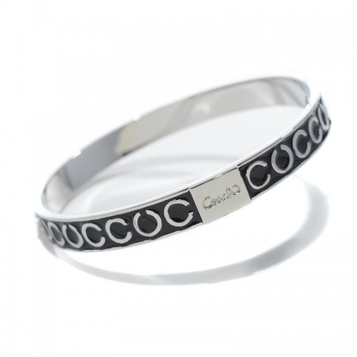 Coach Thin Op Art Pave Black Bracelets BZY