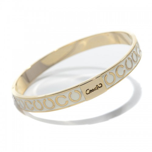 Coach Thin Op Art Pave White Bracelets CAA
