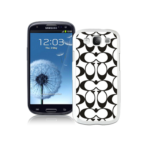 Coach Big Logo Black White Samsung Galaxy S3 9300 CAM