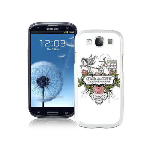 Coach Carriage Logo White Samsung Galaxy S3 9300 CAW