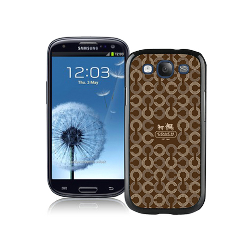 Coach Logo Monogram Brown Samsung Galaxy S3 9300 CBE