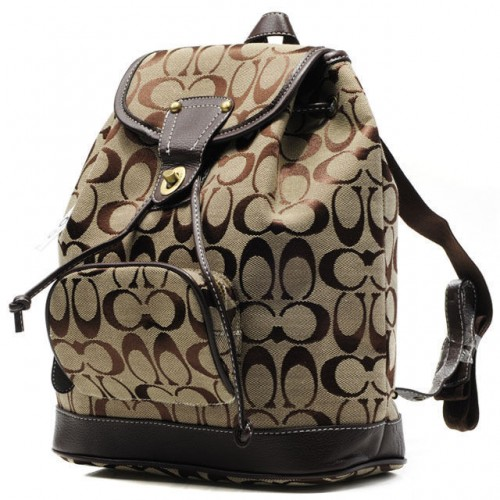 Coach Classic In Signature Medium Khaki Backpacks CBK