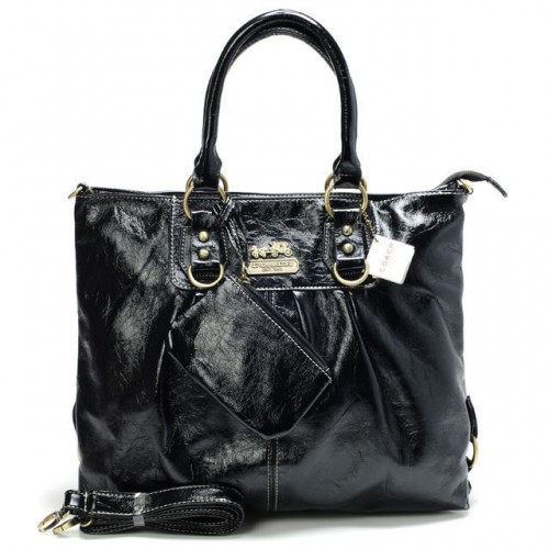 Coach In Smooth Medium Black Satchels CBP