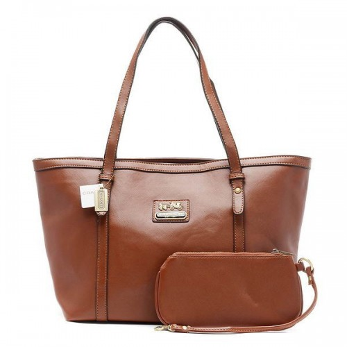 Coach City Large Brown Totes CBX