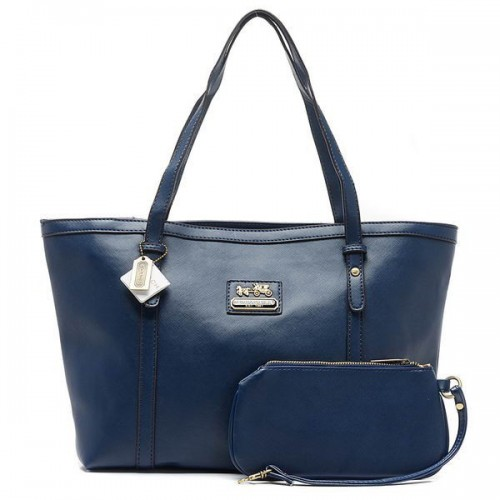 Coach City Large Blue Totes CBZ