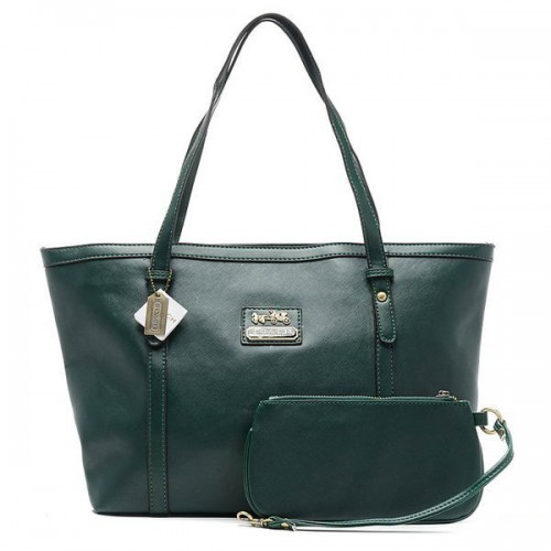 Coach City Large Green Totes CCA