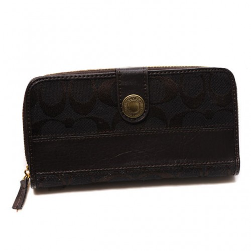 Coach In Signature Large Coffee Wallets CJM