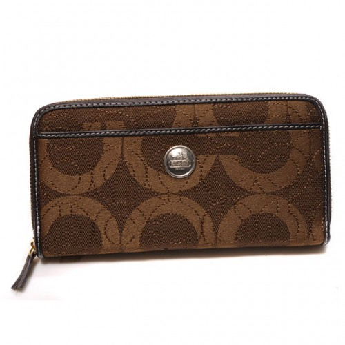 Coach In Signature Large Coffee Wallets CJQ