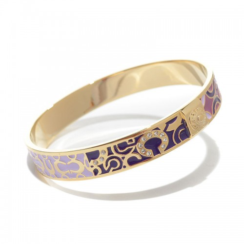 Coach Logo Signature Purple Bracelets CKW