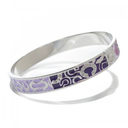 Coach Logo Signature Purple Bracelets CKZ