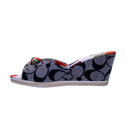 Coach Bowknot Grey Wedges CMW
