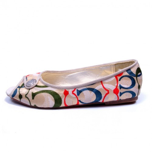Coach Buckle Signature Multicolor Flats CNH