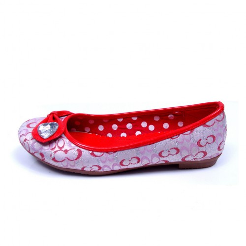 Coach Logo Heart Red Flats CNL