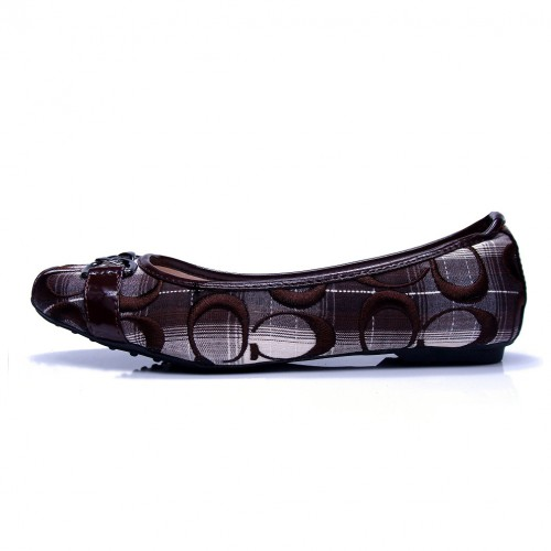 Coach Patchwork Signature Coffee Flats CNN