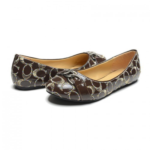 Coach Dalia Signature Coffee Flats CNP