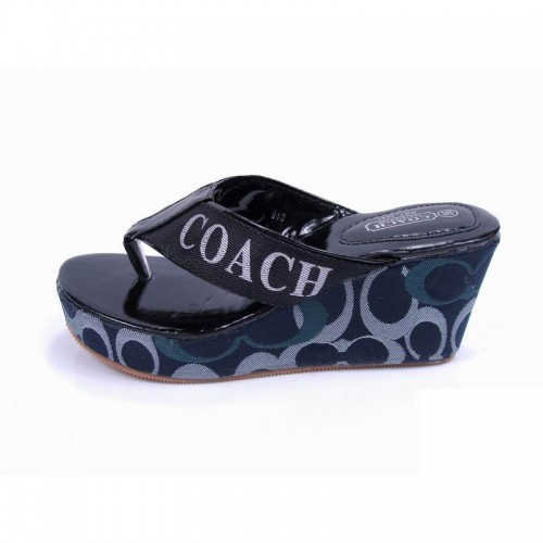 Coach Loralyn Logo Black Sandals COM
