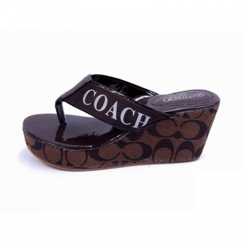 Coach Loralyn Logo Coffee Sandals CON