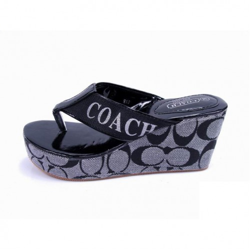 Coach Loralyn Logo Grey Sandals COP