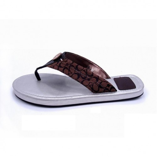 Coach Sara Logo Coffee Sandals COQ