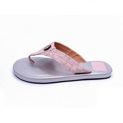 Coach Sara Logo Pink Sandals COS