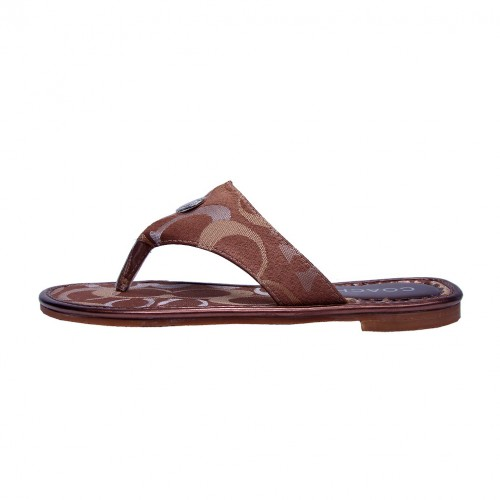 Coach Sara Signature Brown Sandals COT
