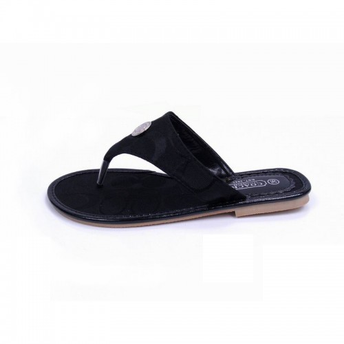 Coach Sara Signature Black Sandals COV