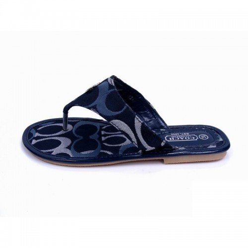 Coach Sara Signature Navy Sandals COW