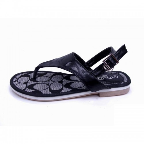 Coach Logo Signature Grey Sandals CPD