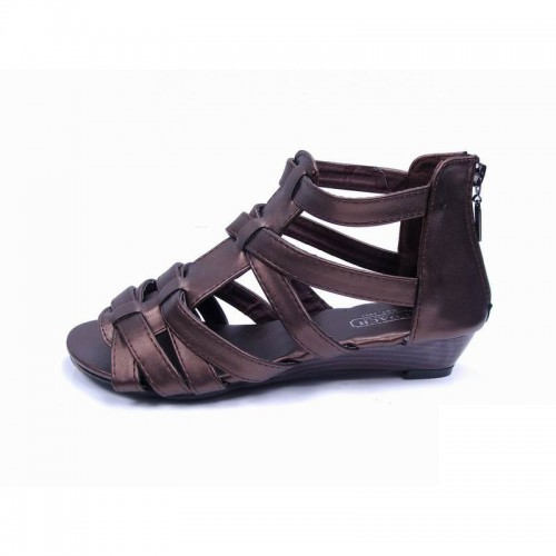 Coach Halsey Strap Coffee Sandals CPT