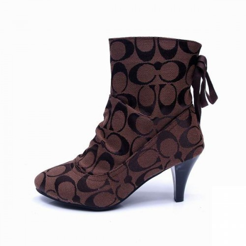 Coach Lace Signature Coffee Booties CPZ