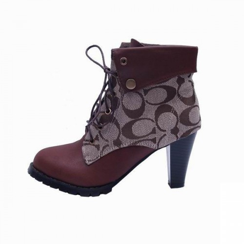 Coach Lace Up Brown Booties CQG