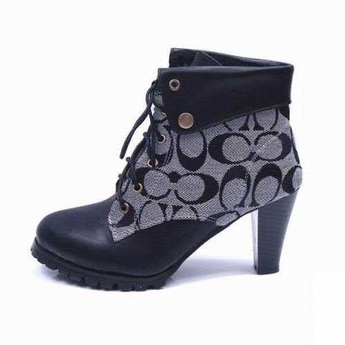 Coach Lace Up Grey Booties CQH