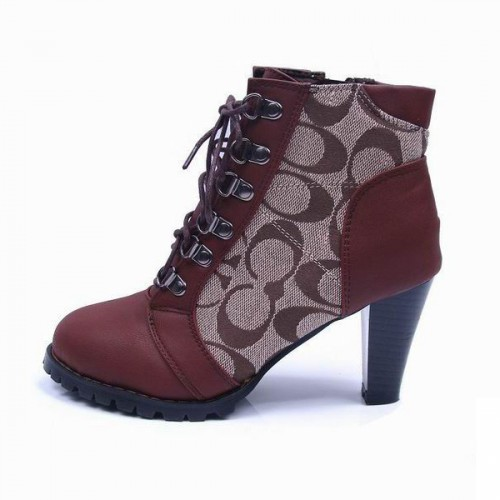 Coach Joyride Logo Brown Booties CQJ