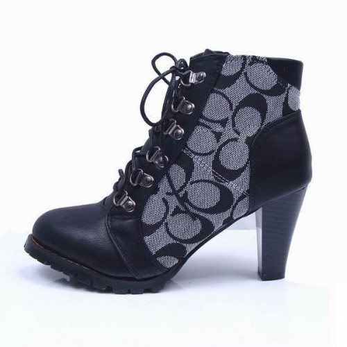 Coach Joyride Logo Grey Booties CQL