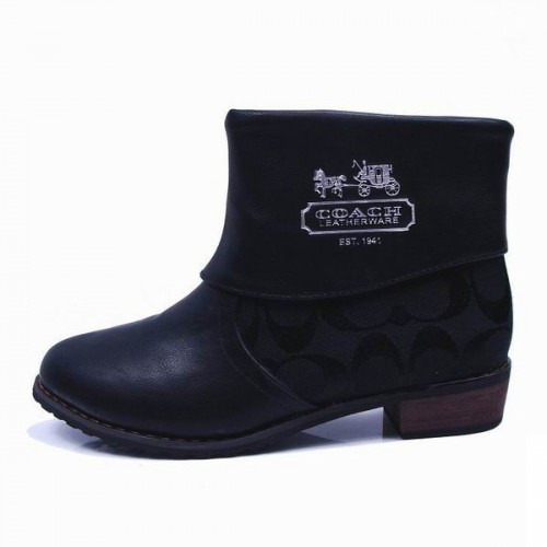 Coach Leoda Signature Black Booties CQP