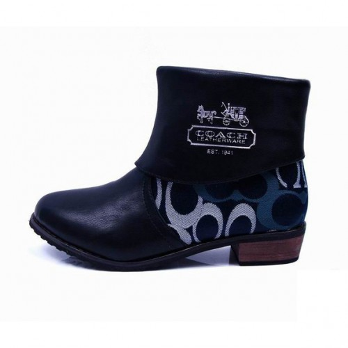 Coach Leoda Signature Navy Booties CQR