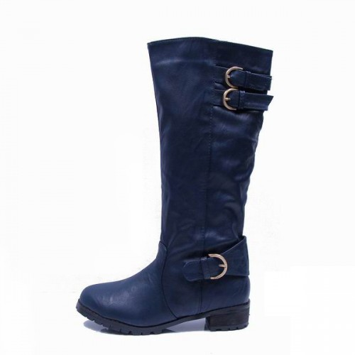 Coach Eleanor Navy Boots CQT
