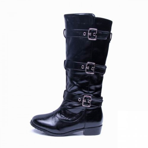Coach Modern Buckles Black Boots CQY